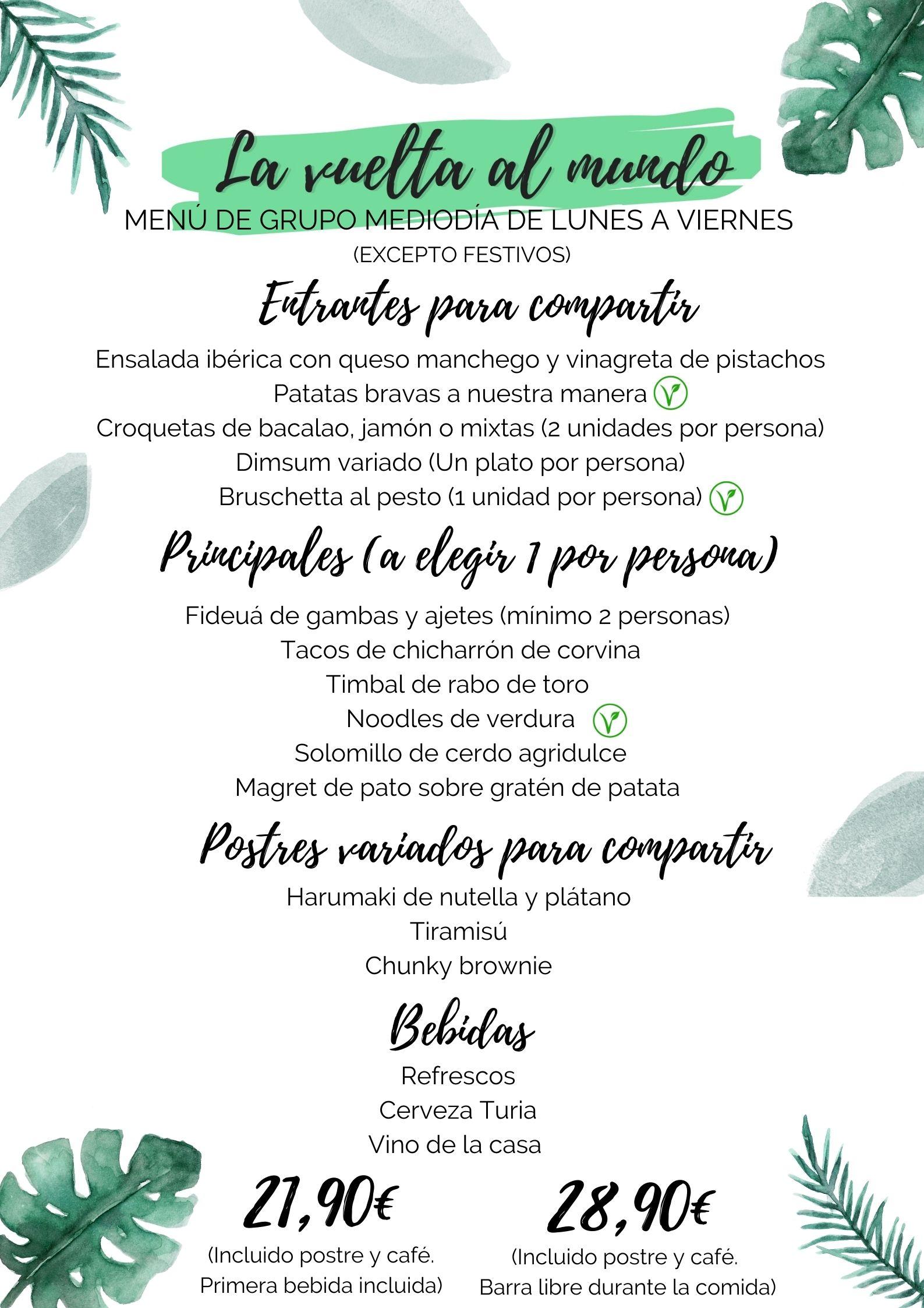 cenas de empresa la vuelta al mundo restaurante valencia
